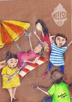 """""""Celebra a amizade"""" - uma ilustração deita com muito carinho para a I."""
