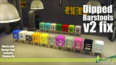 Updated the dipped stool , they now no longer have that stretched shadow issue that some players experienced , they also work with design tool :) , will overwrite V1 if you have it link here : http://www.mediafire.com/download/3od37kvogei3wyv/kiwisims_4_dippingstools.package