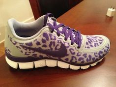 Purple and Cheetah print?! say what! These have my name all over them :)