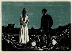 Edvard Munch  Two Human Beings: The Lonely Ones 1899