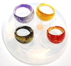 Clear handmade Silicone Mold for 4 Ring size 6 7 8 9 166 * You can get more details by clicking on the affiliate link Amazon.com.