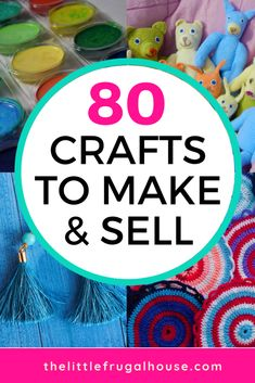 Ever wonder if you could make any money selling crafts? Check out these 80 crafts to make and sell, and you just might find the perfect crafty side job! for adults 80 Crafts to Make and Sell - The Little Frugal House Easy Crafts To Sell, Money Making Crafts, Diy Crafts For Kids, Home Crafts, How To Make Money, Sell Diy, Adult Crafts, Craft Ideas For Adults, Simple Crafts