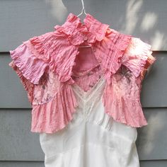 love this!  Ruffled Lace Shrug by Resurrection Rags, via Flickr