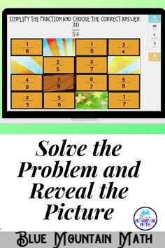 Are you looking for an interactive and self-correcting resource to practice simplifying fractions with your students? There are 2 different pictures with 16 problems for each picture on solving inequalities. Students start with the picture totally covered by the answer boxes. As they answer each question correctly, more and more of the covered picture is revealed.