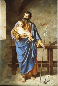 San Giuseppe col Bambino – E. Prati nellaChiesa arcipretale di Santa Maria Assunta di Villa Lagarina (Trento).