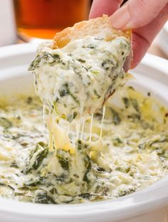Slow-Cooker Boursin Spinach-Artichoke Dip The best way to make spinach-artichoke dip taste even more delish? Adding Boursin for a supremely creamy texture. Get the recipe from Delish. Fall Appetizers, Appetizer Dips, Appetizer Recipes, Dip Recipes, Appetizer Party, Potato Recipes, Vegetable Recipes, Dinner Recipes, Halloween Appetizers