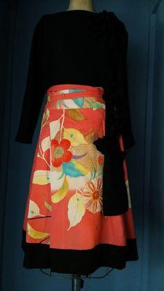 Kimono skirt remake