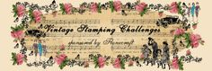 Challenge – Pocket Full Of Posies « Vintage Stamping Challenge Project Site, Header, Stamping, Vintage World Maps, Artsy, Challenges, Drawings, Projects, Blog