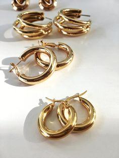 Gold And Silver Earrings Hoops Ear Jewelry, Cute Jewelry, Boho Jewelry, Antique Jewelry, Silver Jewelry, Jewelry Accessories, Fashion Jewelry, Silver Ring, Silver Earrings