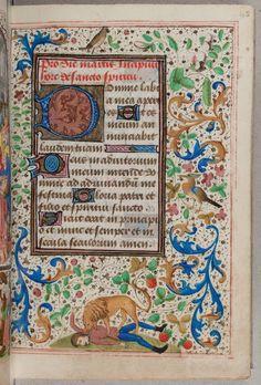 Marginalia. Trivulzio Book of Hours, c. 1470, SMC 1, f. 45r, Koninklijke Bibliotheek National Library of the Netherlands. http://www.kb.nl/bladerboek/trivulzio/browse/page_045r.html