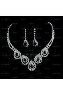 Gorgeous Alloy With Rhinestone Ladies' Jewelry Sets IZIPJ2057