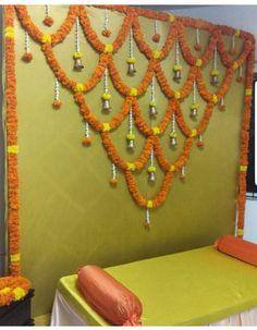 Housewarming Decorations, Diy Diwali Decorations, Backdrop Decorations, Festival Decorations, Flower Decorations, Desi Wedding Decor, Wedding Stage Design, Wedding Hall Decorations, Marriage Decoration