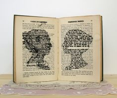 Lauren DiCioccio : Sculpture : cross-stitched books