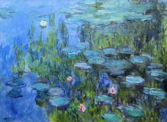 Claude Monet - Water Lilies - at Neue Pinakothek Munich Germany