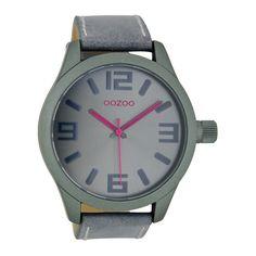 OOZOO Timepieces horloge Aquagrijs/Roze C7117 (46 mm)