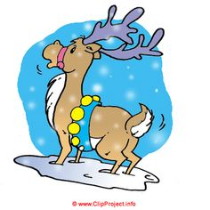 Christmas deer clip art free