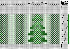 Summer and Winter Eight Shaft Christmas Tree Pattern