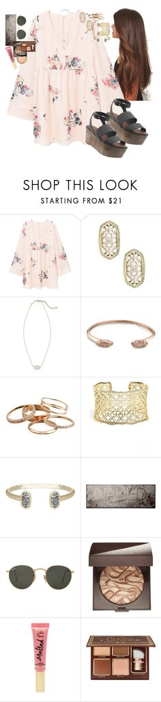 """""""be the one"""" by racheld24 ❤ liked on Polyvore featuring MANGO, Kendra Scott, Elizabeth and James, Urban Decay, Ray-Ban, Laura Mercier and Too Faced Cosmetics"""