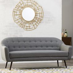 Fusing together a mid-century feel with a modern day twist, the Canyon sofa is a gorgeous neutral focal point for any living space. Upholstered and button tufted, this piece is timeless and encompasses modern elegance. Living Room Furniture Sale, Simple Living Room Decor, Mid Century Sofa, Sofa Colors, Sofa Upholstery, Tufted Sofa, Best Sofa, Modern Rustic Interiors, Corner Sofa