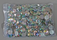 Камешки круглые с гранями перл. 16мм/500шт АВ