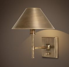 Petite Candlestick Sconce with Metal Shade - RH