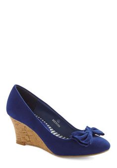 LOVE the color and shape  Sapphire in Your Heart Wedge, #ModCloth