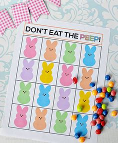Don't eat the peeps fun printable Easter activity! http://www.thirtyhandmadedays.com