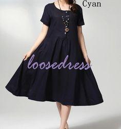 Tea Length new 2014 plus size woman long cute summer by loosedress