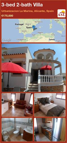 3-bed 2-bath Villa in Urbanizacion La Marina, Alicante, Spain ►€175,000 #PropertyForSaleInSpain