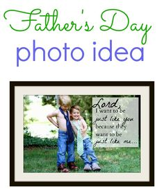 This is such a cute DIY Father's Day gift idea. Turn into a Father's Day photo or picture idea for Dad to keep always! Best sentimental gift for Father's Day. Fathers Day Photo, Fathers Day Crafts, Diy Father's Day Gifts, Father's Day Diy, Daddy Day, Daddy Gifts, Mother And Father, Mothers, Good Good Father