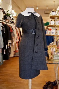 Vintage 1960's Dress // 60's Mam'selle Wiggle Dress and Coat with Peter Pan Collar Size 4 NOS. $298.00, via Etsy.