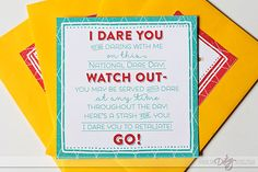 Fun date idea for National Dare Day in June- putting it on the calendar