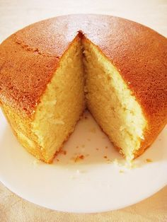 A cross between your dry, airy sponge cake and the dense, fattening butter cake, this tender-crumbed beauty is enriched with the addition of melted butter and full cream milk. Instead of deflating,… Cake Hot Milk Sponge Cake Hot Milk Sponge Cake Recipe, Sponge Cake Recipes, Pound Cake Recipes, Easy Cake Recipes, Baking Recipes, Eggless Sponge Cake, Best Hot Milk Cake Recipe, Trinidad Sponge Cake Recipe, Guyanese Sponge Cake Recipe