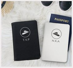 Personalized couple passport holder by WanderlustCover on Etsy