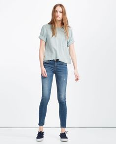 PUSH-UP JEANS-JEANS-WOMAN | ZARA United States Zara Tops, Zara United States, Zara Women, Capsule Wardrobe, Push Up, Casual Outfits, Skinny Jeans, Denim, Jeans