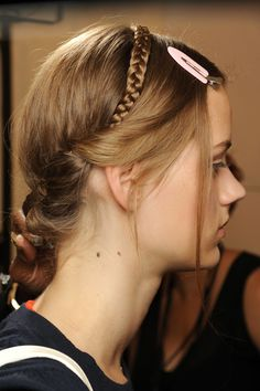 Hair at Valentino couture fall 2013