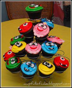 Yo Gabba Gabba Cupcakes by Acupfullofcake