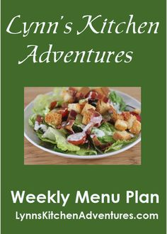 Weekly Menu Plan- Lots of quick and easy breakfast and dinner ideas