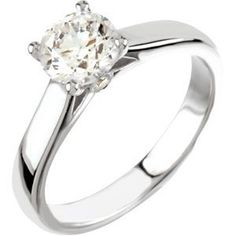 Cathedral Style Solitaire Engagement Ring | JD Jewelers | Midland and Gladwin, MI
