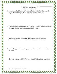 math worksheet : free interpret the remainder division word problems  4th grade  : Long Division Word Problems Worksheets