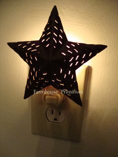 Punched Star Nightlight