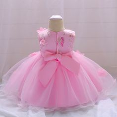 Girls' Clothing Baby Kid's Birthday Baptism Outfit Dress For Month Infant Girls Toddler Cheap Party Dresses, Party Dresses Online, Girls Party Dress, Baby Dress, Girls Dresses, Flower Girl Dresses, Lace Dresses, Dress Outfits, Girl Outfits