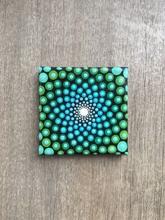 Sacred geometry - Mini canvas painting- Small canvas painting- Acrylic painting- Mandala art - Dot art by ColorCoveArt on Etsy