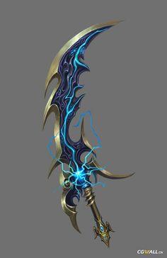 Anime Weapons A good sword 4 a son Zeus Sword Drawing, Sword Art, Fantasy Sword, Fantasy Rpg, Armas Ninja, Sword Design, Anime Weapons, Medieval Weapons, Weapon Concept Art