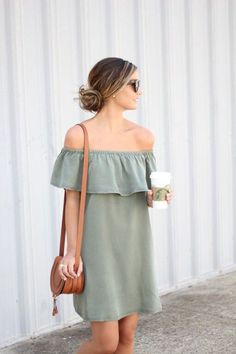 nice Army Green Ruffles, summer fashion trends 2016. - Street Fashion & Casual Style Trends