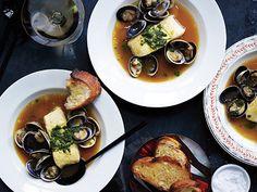 Seafood en Brodo with Tarragon Pesto