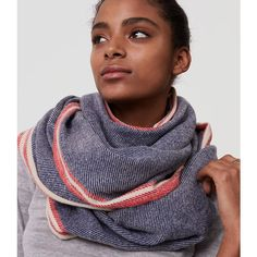 LOFT Striped Infinity Scarf ($40) ❤ liked on Polyvore featuring accessories, scarves, fresh navy, infinity circle scarf, navy infinity scarf, striped scarves, loop scarves and tube scarves