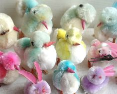Chenille chicks! Love these! Had them in my Easter baskets when I was little!