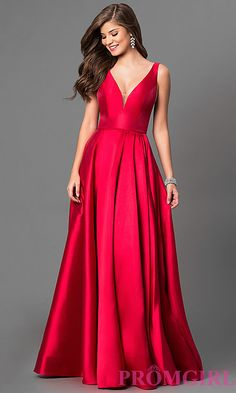 V-Neck Long Prom Dress by Sherri Hill very old hollywood, this would look gorgeous and flatter ur bod