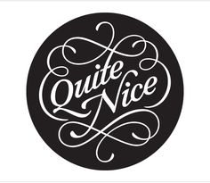 Quite Nice    Custom wordmark for Quite Nice Studios in Brooklyn, New York.